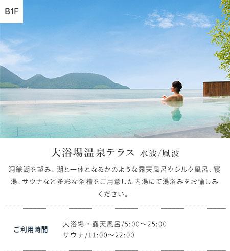 大浴場温泉テラス 水波/風波